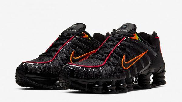 Nike-Shox-TL-Black-Orange-CV1644-001-front